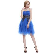 2015 New design Starzz Strapless Sweetheart Neckline Tulle & N/T Taffeta Ball Cocktail Dresses ST000040-5#
