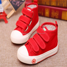 2015 Children classics high top canvas shoes boys and girls school canvas shoes