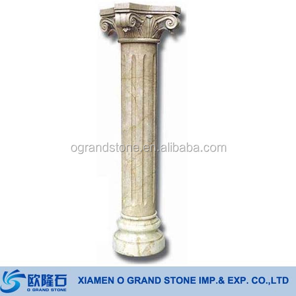 Decorative Round Square Granite Marble Stone Greek Columns