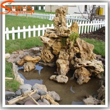 Distinctive designs artificial fiberglass landscape rocks ornamental rocks fountains for garden decor