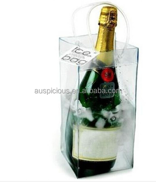 Custom printing hiqh quality PVC wine bag