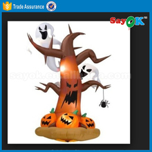 halloween inflatable tree inflatable ghost with led light