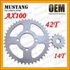 for Suzuki AX100 Motorcycle Parts Rear Wheel Sprocket
