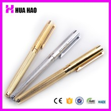 Promotional metal ball pen material metallic golden and silver business ball pen