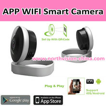 mobile phone app viewing wifi baby monitor with motion detection, 720p HD video, recording