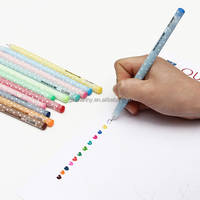 12pcs/lot Best Price Colorful Shining Candy Color Gel Pen Set Kawaii For School Stationery Kid Gift Office Supplies