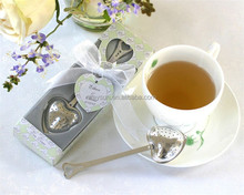 wedding Favors gifts and giveaways-- Heart shape Tea infuser Favor in Gift Box