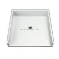 Custom popular fiberglass black shower tray,SMC shower base
