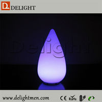 Top sale lighting up waterproof glowing remote control led luminous lamp shape centerpiece