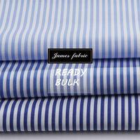 James high level england blue stripe shirt fabric