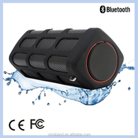 2015 SINOBAND New Design Waterproof Powerbank Mini Portable Bluetooth Speaker Best Electronic Christmas Gifts 2015