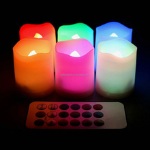 HOT SELL Wholesale LED Flash Flameless Moving Wick LED Candle With Timer LED Wax Candle Light With Remote Control Manufacturer