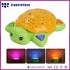 LED Musical Turtle Night Light Stars Constellation Lamp Plush Baby Sleeping Dolls Stuffed Tortoise Toy