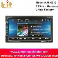 2015 low price touch screen car audio system with BT/ GPS/ FM/AM/ MP3