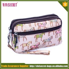 Colorful Christmas Gift Promotional Fancy Flowers Zipper Purses and Handbags