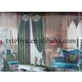 Cortina con volante de terciopelo en color liso para casa de Dubai Cortinas