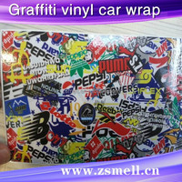 Zsmell well quality hot sale angel wings 3d soft car decorative car sticker