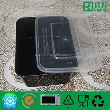 500ml black plastic food container /packaged indian food