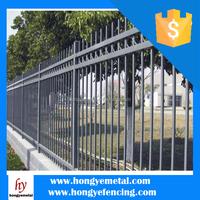 Hongye Fence - Powder Coated Galvanized Backyard Metal Fence Panels For Sale