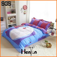 custom print 3D bed sheet set, applique work bed sheet
