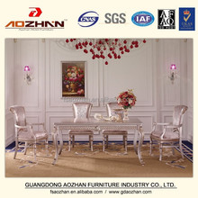 Luxury home dining table set,european classical dining table and chair,wooden hand carving dinner table AZ-GGZZ-4374