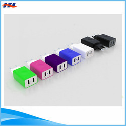 3.4A 2 USB Ports Wall Charger From Shenzhen Factory 7 Colors For Choose