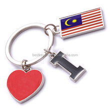 new custom metal souvenir Malaysia key chain