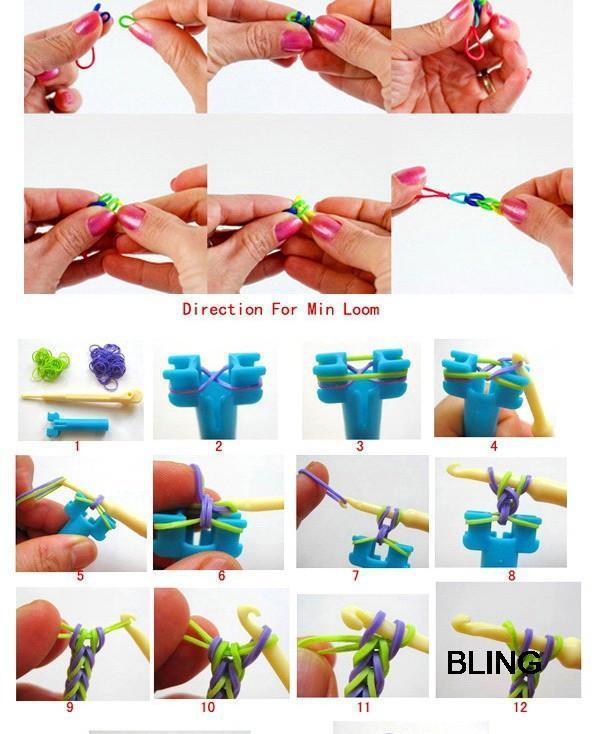 Инструкция как делать игрушки из резинок