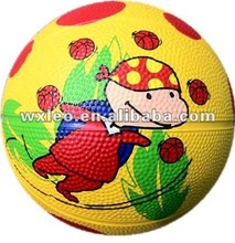 children palying rubber basketball Official basketball