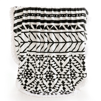 Round Beach Towel with Tassel Fringes, Cool Beach Item