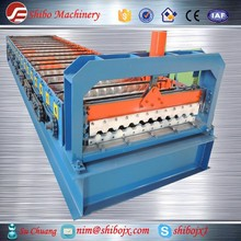 Popular in Russia and east Europe double deck steel roof tile chain drive machine,Machinery for building material