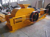 high crushing ratio double roller crusher crushing glass recycling machinery for sale