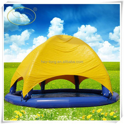 Outdoor big swimming pool inflatable with tent for water balls made in China inflatable manufacturer
