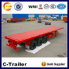 China factory 20ft and 40ft container flat deck semi trailer