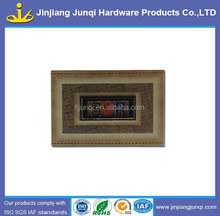 Fashion printed leather labels for garment