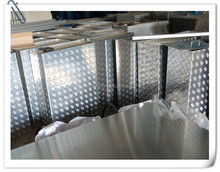 Aluminum checkered plate water box for equipment parts