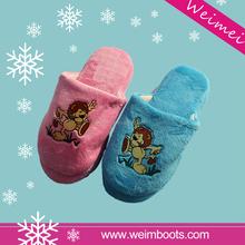 TPR or EVA Sole Different Material Colorful Custom slipper women