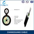 Núcleos 24 auto- de apoyo de acero blindado tpae ftth de fibra óptica de cable de bajada