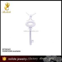 [Reilide]Sterling silver rhodium plating round key chain pendant