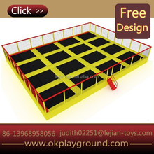 2015 Wide area best-price big sized fashionable multicolors outdoor trampoline