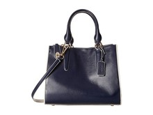 Deep Blue Large Shopping Bag with Zip Lock/Large Security Tote Bag