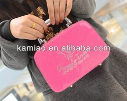portable new style lovely beauty red cosmetic make up bags and cases for ladies for promotion manufacturer