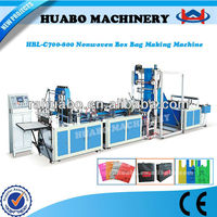 The newest Manufacturer HBL-C 600/700/800 polythene d cut nonwoven bag machine