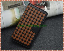 hot selling handmade weave leather cell phone case for iphone6/6 plus