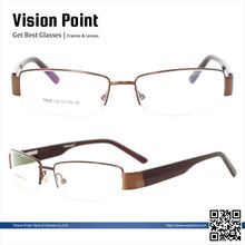 Metal alloy half-rim 2014 new stock high quality optical frames
