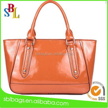 2015 Fashion Orange Color Leather Handbag , Latest Women Handbag,Summer Leather Handbag