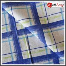 2014 China supplier blue and white check design wholesale 100% cotton fabric for clothing
