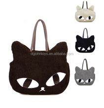2015 Wholesale Lovely Plush Cat Handbag
