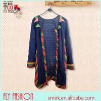 DC292# The newest design rainbow stitch colorful cardigan,women slim cardigan,women folk style cardigan sweater,