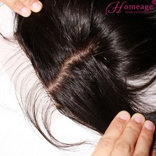 homeage natural hair line silk base closure middle part